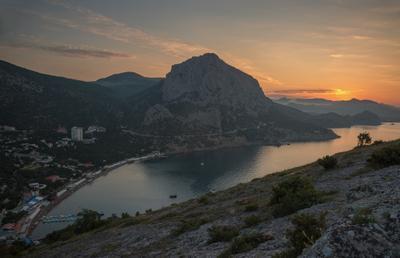 Предрассветная. Крым Новый Свет рассвет Судак море скалы