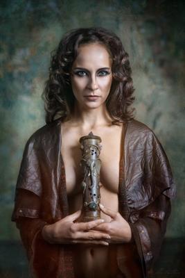 *** art nude girl classic portait слон