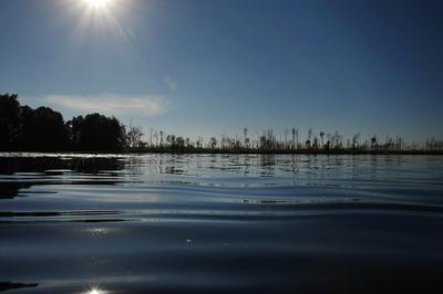 Закат озера Ласка солотча озеро торфяники болота мещера ласка