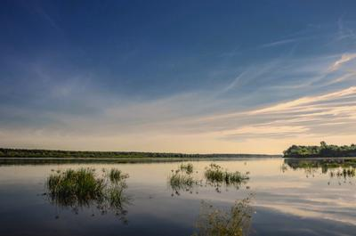 Волга . Левый берег .
