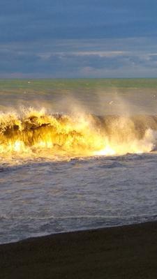 Море, декабрь. море волны шторм солнце