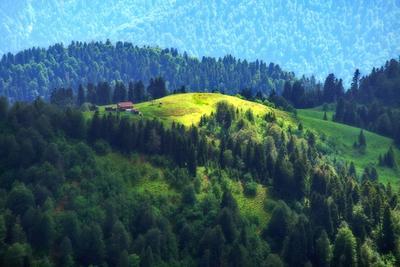 Домик в горах. горы домик