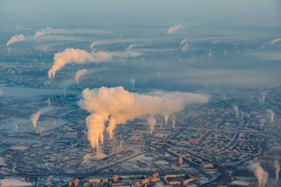 Санкт-Петербург с высоты Санкт-Петербург Питер Россия солнце зима утро холодно восход облака дым самолет небо airbus airbus320 airastana
