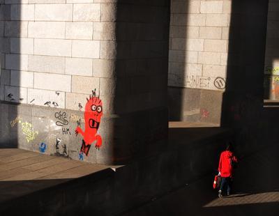 Красные Москва Мост граффити