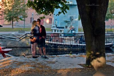 Сентябрьская любовь Швеция Уппсала река отражения природа любовь