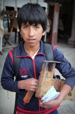 Чистильщик обуви. Арекипа, Перу