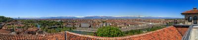 Турин, панорама, 12 кадров Турин Альпы пейзаж Sandro.Pavlov Италия горы река По