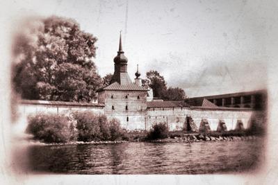 виды архангельска кремль, стена, город, река