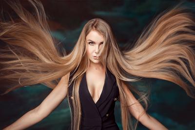 *** девушка длинные волосы