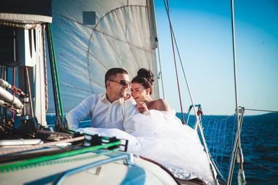 *** невеста.свадьба.яхта.море счастье.смех