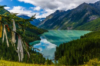 Кучерлинское озеро Горный Алтай Кучерлинское озеро Катунский хребет