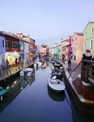 А на острове Бурано Италия Бурано Канал