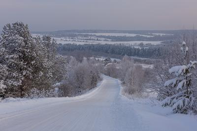 Дорога к дому дорога деревня зима снег пежма