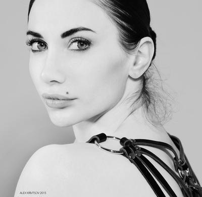 Лена гламур портрет фэшн Кривцов девушка красавица чб bw glamour fashion portrait sensual Krivtsov