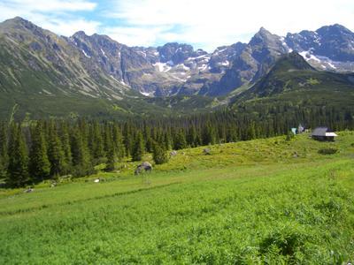На подступах к горам Высокие Татры горы скалы пейзаж