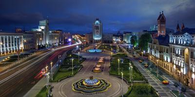 З июля – день освобождения Минска! беларусь город минск вечер фотосфера-минск