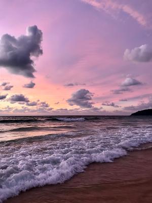 Фиолетовый закат, Пхукет Тайланд Закат остров океан Тайланд