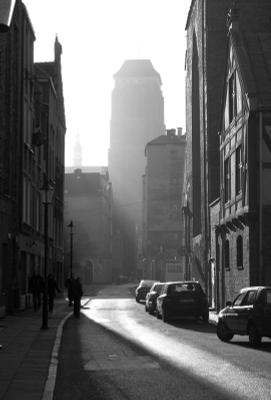 Новогоднее утро, Данциг. Данциг, Гданьск, собор, дымка, туман