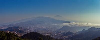 Панорама Тенерифе вулкан Тенерифе Испания канары панорама вид