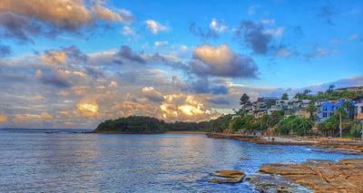 *** Закат Сидней пляж бухта