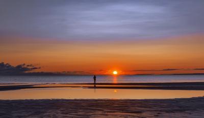 Проводы Солнца пейзаж вечер море закат