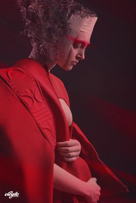 """La silhouette rouge"" moda, fashion, мода, арт фешн, art fashion"