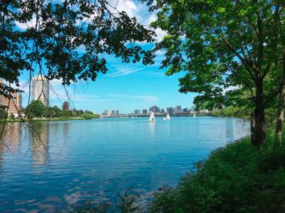 Charles River View, Boston, MA America Boston Street Green Sky River View Travel