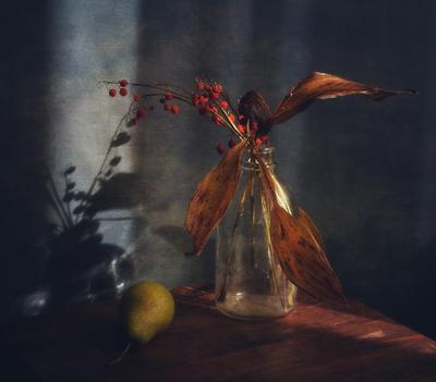 осенний ландыш... натюрморт композиция ландыш осень тень
