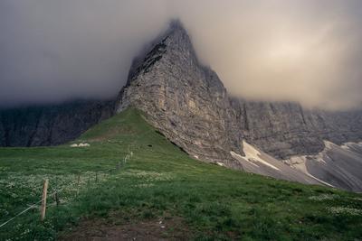 Смена погоды горы Альпы Австрия Карвендель гроза смена погоды поход природа облако туча пейзаж