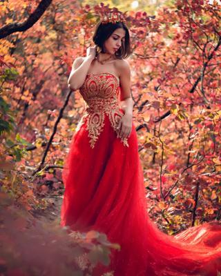 *** Осень девушка портрет платье природа