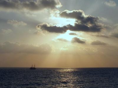 *** море.яхта.закат.солнце.небо