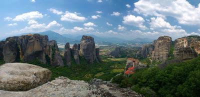 Метеоры - Панорама долины от которой захватывает дух Метеоры Греция панорама