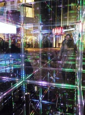 Отражение решетка свет фигура