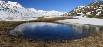 Озеро в долине реки Тара алтай озеро весна
