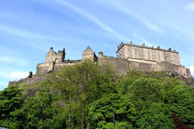 Эдинбургский замок, Шотландия замок пейзаж Шотландия Эдинбург