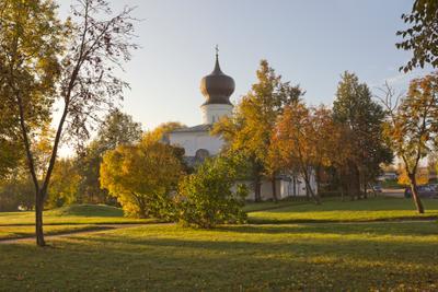 Псковская осень псков храм церковь осень