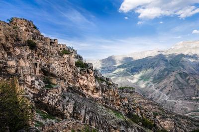*** Дагестан Гамсутль город в горах горы пещеры