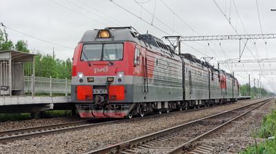 3ЭС4К-010 СПБ Апраксин поезд электровоз 3ЭС4К-010
