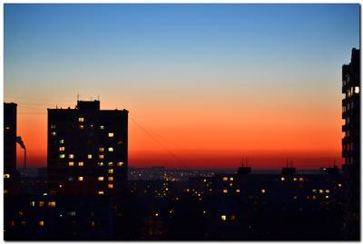 Закат... закат город