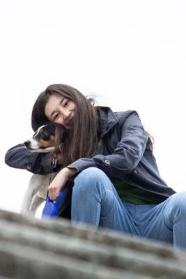 Дашенька и Шепард фотосессия фотограф животные портрет прогулка lifestyle эмоции