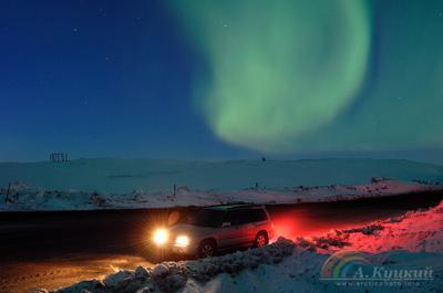 По пути с северным сиянием Северное сияние Чукотка