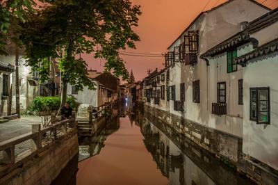 Night in Suzhou китай сужоу ночь город