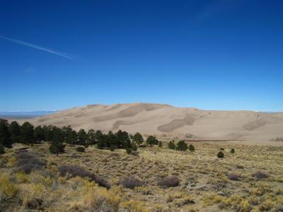 Кусочек штата Колорадо. Америка пейзаж скалы дюны песок