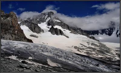 На леднике ... Альпы