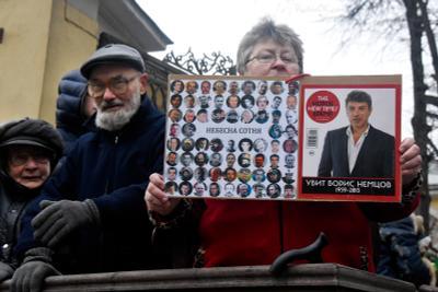 Прощание с Борисом Немцовым Москва убийство Немцова политика люди город небесная сотня