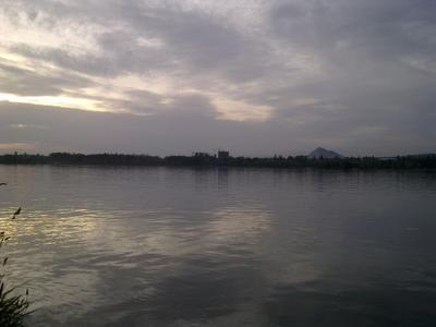 *** природа озеро небо