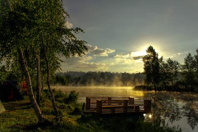 Мое Утро - будь! рассвет природа туман утро