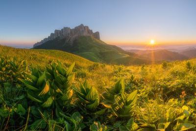 Рассвет у Большого Тхача Западный кавказ большой Тхач рассвет лето