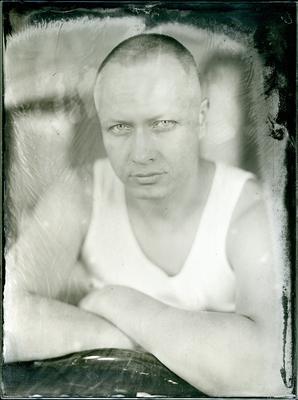 Денис амбротип мокрый коллодий большой формат портрет