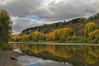 Осень на реке Иня осень р.Иня Новосибирск